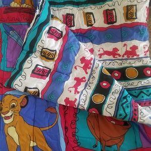 1990s Vintage Lion King Reversable Comforter